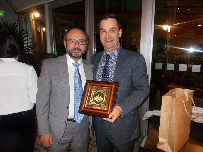 El presidente de COSITAL José Luis Pérez López y el presidente del SNDGCT Stéphane Pintre